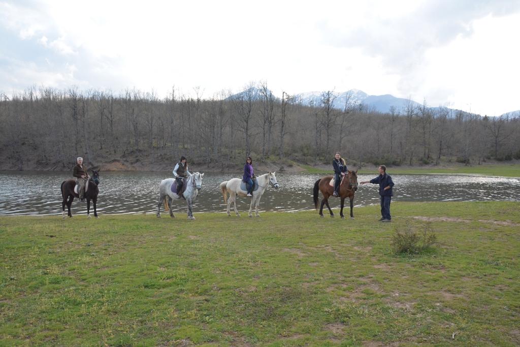 horseback riding at lake plastiras