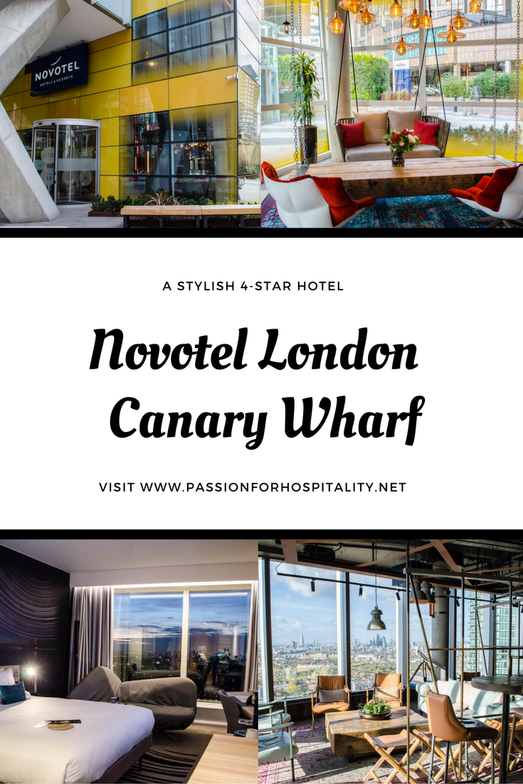 Novotel London Canary Wharf is a stylish 39-storey hotel in the heart of London's major business district