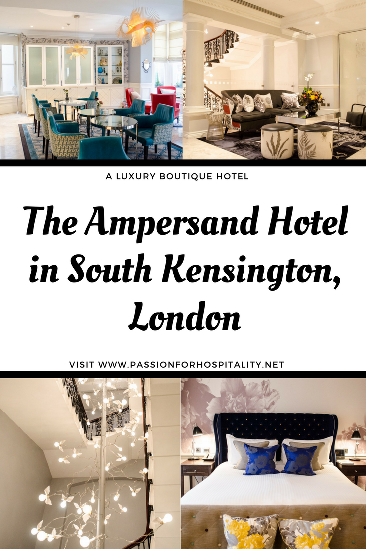 The Ampersand Hotel is a small boutique hotel located in South Kensington, London